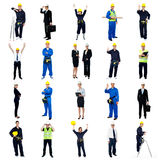 Collection of construction workers Royalty Free Stock Images