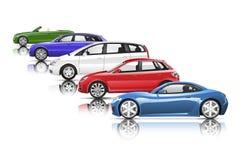 Collection of Contemporary Shiny Car Concept Royalty Free Stock Photos