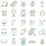 Collection of contour icons for golf Royalty Free Stock Image