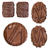 Collection of cookies and chocolate candy isolated Stock Image