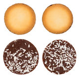 Collection of cookies and chocolate candy isolated Royalty Free Stock Images