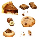 Collection of cookies vector illustration