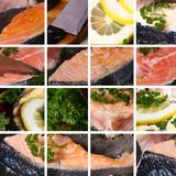 Collection cooking fish. Collection from a few photos of cooking fish Royalty Free Stock Images