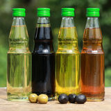 Collection of cooking oil Stock Images