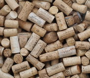 A collection of corks from wine bottles Royalty Free Stock Image