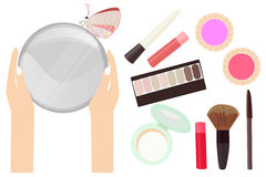 Collection of cosmetic Stock Image