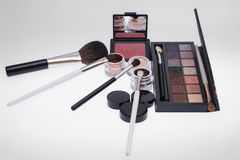 Collection of cosmetics for make-up artist. stock photo