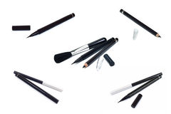 Collection of cosmetics makeup Eyeliner ,Black pencil eye liner Stock Image