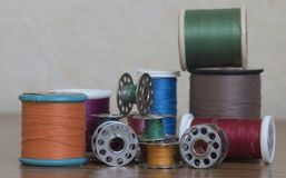 Several cotton reels and spools Royalty Free Stock Image