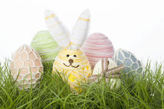 Collection of country Easter Eggs Stock Photo