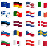collection of country flags 1 Stock Image