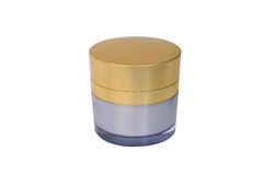 Collection of cream and lotion containers Royalty Free Stock Image