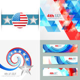 Collection of creative american independence day background illu. Vector collection of creative american independence day background illustration with banner Royalty Free Stock Photography
