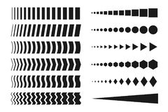 Collection of creative halftone elements. Collection of creative halftone elements - arrows, dots Royalty Free Stock Photography