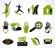 Collection creative icon. Vector illustration Royalty Free Stock Images