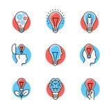 Collection of creative idea light bulb metaphors Royalty Free Stock Photo