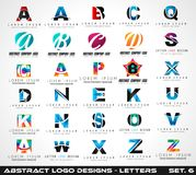 Collection of Creative Logo letter designs for brand  Royalty Free Stock Image