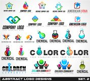 Collection of Creative Logos design for brand identity,  Royalty Free Stock Image