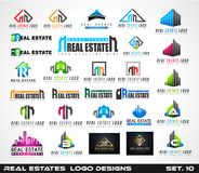 Collection of Creative Real Estate Logo design for brand  Royalty Free Stock Photography