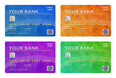 Collection of credit cards Royalty Free Stock Images