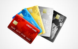 Collection of credit cards Stock Images