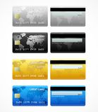 Collection of credit cards isolated on white Stock Images