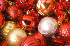 Collection of cristmas balls Stock Photo