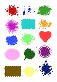 Collection crop shapes Royalty Free Stock Photos