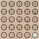 Collection of crosshairs Stock Photo