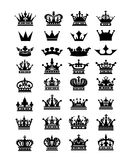 Collection of 32 crown icon logo symbol  download Royalty Free Stock Images