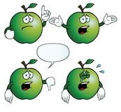 Crying apple set Stock Images