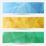 Collection of crystal structured cards Stock Photos
