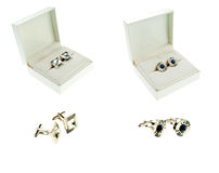 Collection of cufflinks Stock Images