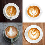 Collection,Cup of latte coffee Royalty Free Stock Image