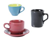 Collection of cup and mug Royalty Free Stock Photography