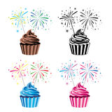 Vector collection of cupcakes Royalty Free Stock Photography