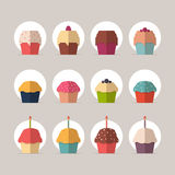 Collection of Cupcakes Stock Photography