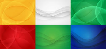 Collection of Curvy Abstract Background. Stock Images