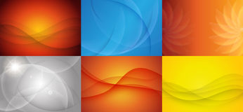 Collection of Curvy Abstract Background. Stock Photos