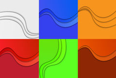 Collection of Curvy Abstract Background. Royalty Free Stock Photo