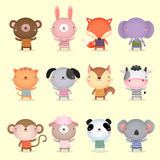Collection of cute animals design Stock Photography