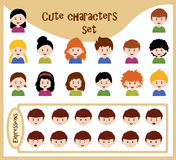 Collection of cute avatars Royalty Free Stock Photo
