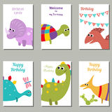 Collection of cute Birthday cards. Stock Images