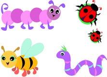 Collection of Cute Bugs Stock Photos