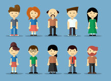 Collection of cute cartoon avatars Royalty Free Stock Photos