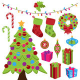 Collection of Cute Christmas Items Royalty Free Stock Photo