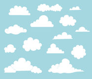Collection of Cute Cloud Illustrations Royalty Free Stock Images
