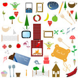 Collection of cute elements. Stock Images