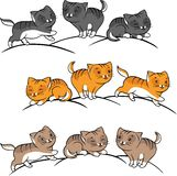 Collection of cute funny cats vector set Royalty Free Stock Images