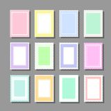 Backgrounds with polka dot and frills. Collection of cute girlish backgrounds for various kinds of design such as postcard, invitation, poster, frame royalty free illustration